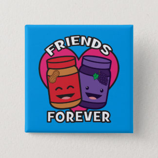 Friends Forever - Peanut Butter And Jelly Kawaii Pinback Button