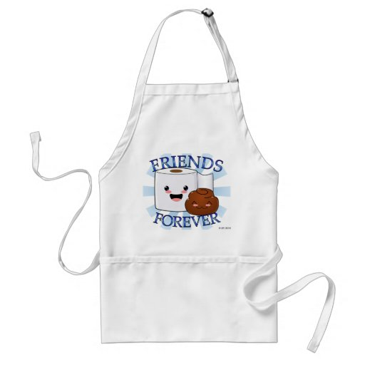 Friends Forever Poo and TP Apron