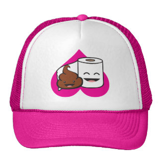 Friends Forever - Poop and Toilet Paper Roll Trucker Hat