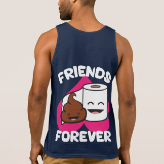 Friends Forever - Poop and Toilet Paper Roll Tank Top