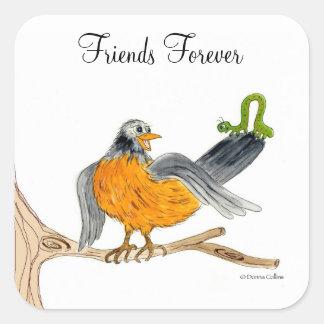 Friends Forever Robin sticker