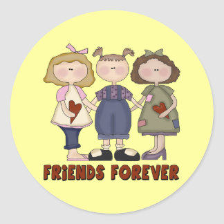 Friends Forever T-shirts and Gifts Round Stickers