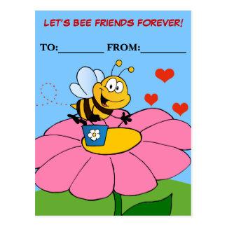 Friends Forever Valentine Exchange Post Card