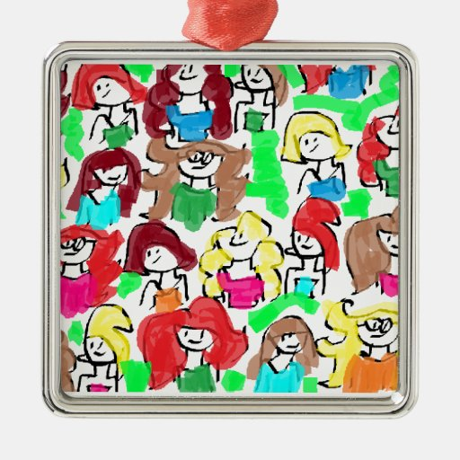 FRIENDS, FRENEMIES, ENEMIES, ALL TOGETHER CHRISTMAS TREE ORNAMENT