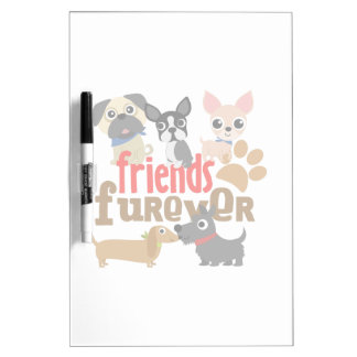 Friends Furever Dogs Puppies Dry Erase Board