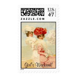 Friends Girls Weekend Stamp Victorian Style sister