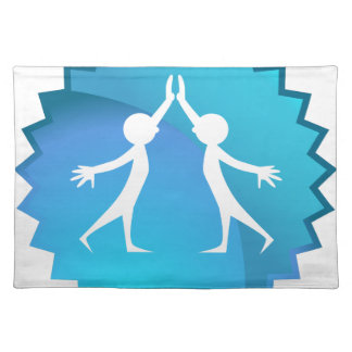 Friends Giving Each Other a High Five Cloth Place Mat