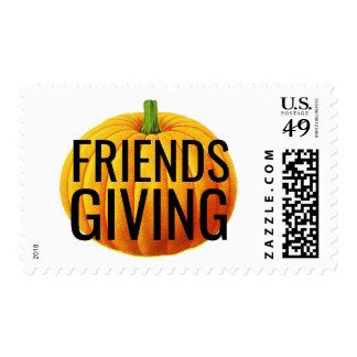 Friends Giving Postage Stamps