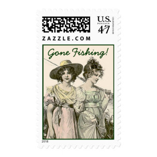 Friends Gone Fishing Stamps Victorian Style sister