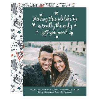 Friends Holiday Photo Card | Dark Green