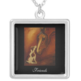 Friends Horse and Jack Russell Necklace