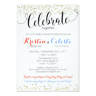 Joint Baby Shower Invitations Announcements Zazzle