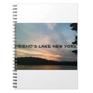 Friend's Lake New York Note Book