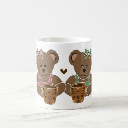 Friends Large Teddy Bear Coffee Cup Coffee Mugs