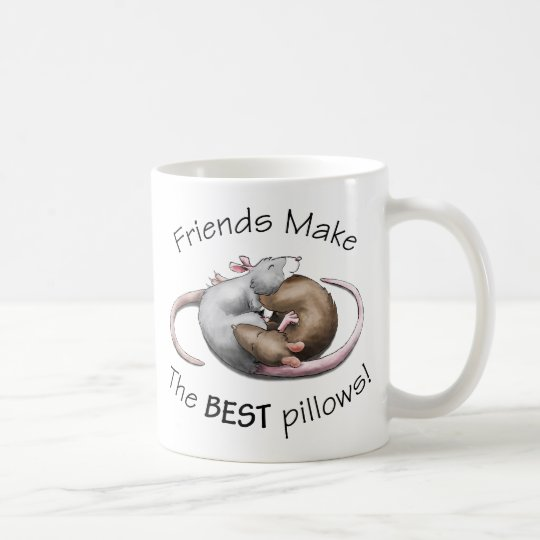 Friends make the BEST pillows! Coffee Mug