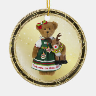 Friends Make the Holiday Sparkle Bear Ornament