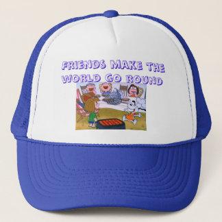 Friends make the world go round trucker hat