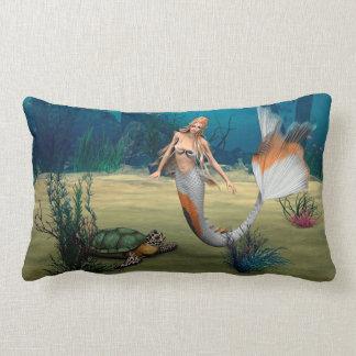 Friends Mermaid und Turtle Lumbar Pillow