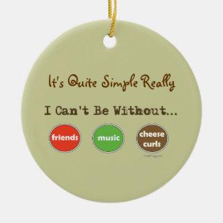 Friends Music Cheese Curls Ornament