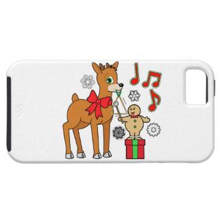 Friends,Music:Christmas Gingerbread Boy &Reindeer iPhone SE/5/5s Case