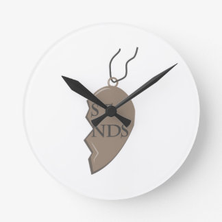 Friends Necklace Round Clock