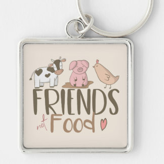 Friends Not Food 2 Keychain