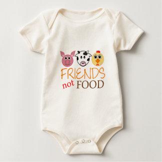 Friends Not Food Baby Bodysuit