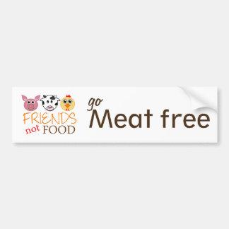 Friends Not Food Bumper Sticker