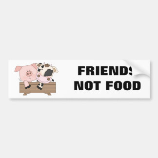 Friends Not Food Bumper Sticker Car Bumper Sticker