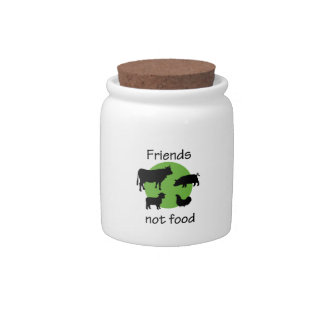 Friends Not Food Candy Jar