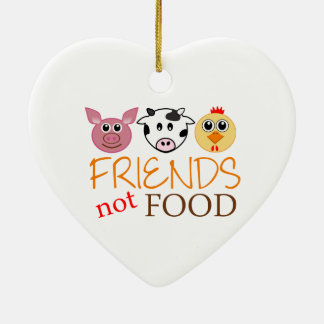 Friends Not Food Ceramic Ornament