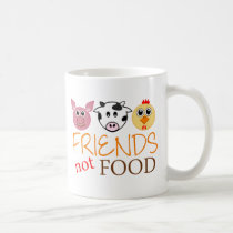 Friends Not Food Coffee Mug