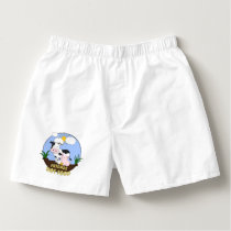 Friends Not Food - Cute Cow, Pig and Chicken Boxers