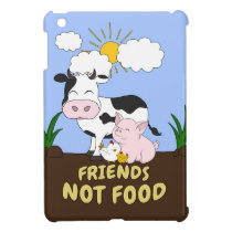 Friends Not Food - Cute Cow, Pig and Chicken iPad Mini Case