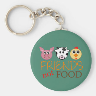Friends Not Food Keychain
