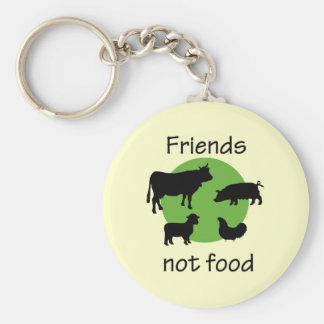 Friends, Not Food Keychains