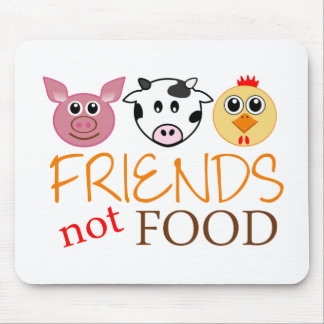 Friends Not Food Mouse Pad