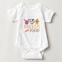 Friends Not Food Organic Baby Bodysuit