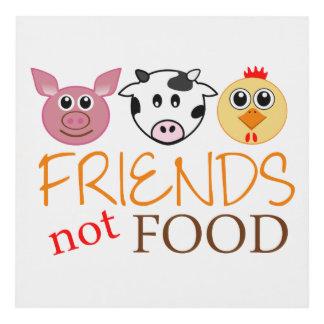 Friends, Not Food Panel Wall Art