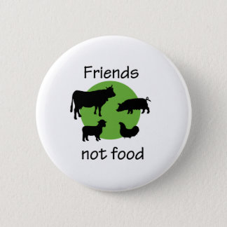 Friends, Not Food Pinback Button