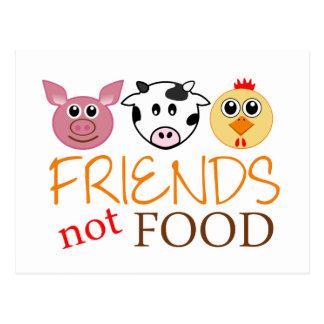 Friends Not Food Postcard