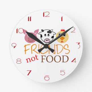 Friends Not Food Round Clock