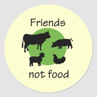Friends Not Food Stickers