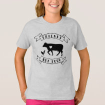 """Friends Not Food"" Vegan Kids T-Shirt"