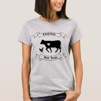 """Friends Not Food"" Vegan T Shirt"