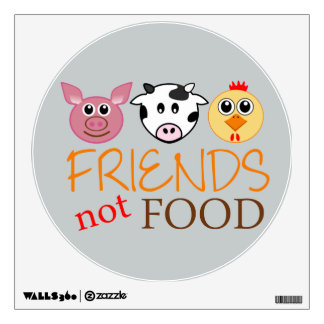 Friends Not Food Wall Decal