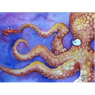 """""""Friends"""" Octopus & Crab, Fish with Attitude Cutout"""