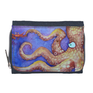 """Friends"" Octopus & Crab, Fish with Attitude Wallet"