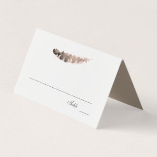 Friends of a Feather | Thanksgiving Wedding Place Card