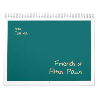 Friends of Altus Paws 2013 Calendar
